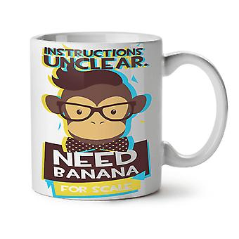 Need Banana Monkey NEW White Tea Coffee Ceramic Mug 11 oz | Wellcoda