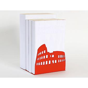 Vermillion Colosseum Rome Europejskiej Landmark Bookend