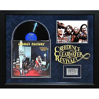 Creedence Clearwater Revival - Cosmo's Factory Signed Vinyl Album - Framed