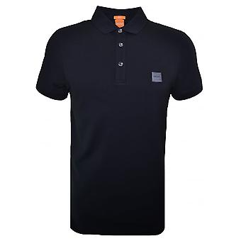 Hugo Boss Orange Men's Slim Fit Black Pavlik Polo Shirt