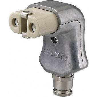 Hot wire connector Series (mains connectors) 344 Socket, right angle