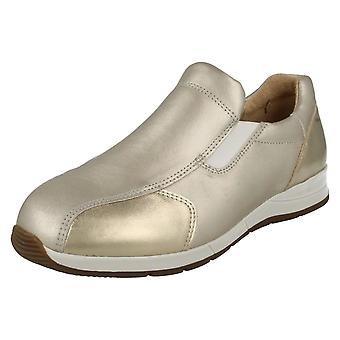 Ladies Easy B Wide Fitting Casual Slip On Shoes Cleo