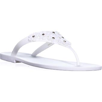 Nine West Vlora Flat Thong Jelly Sandals, White