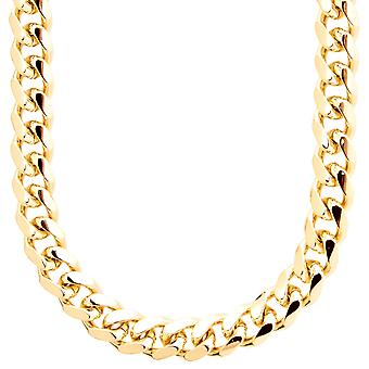 Iced out bling chain - MIAMI CUBAN 10 mm gold