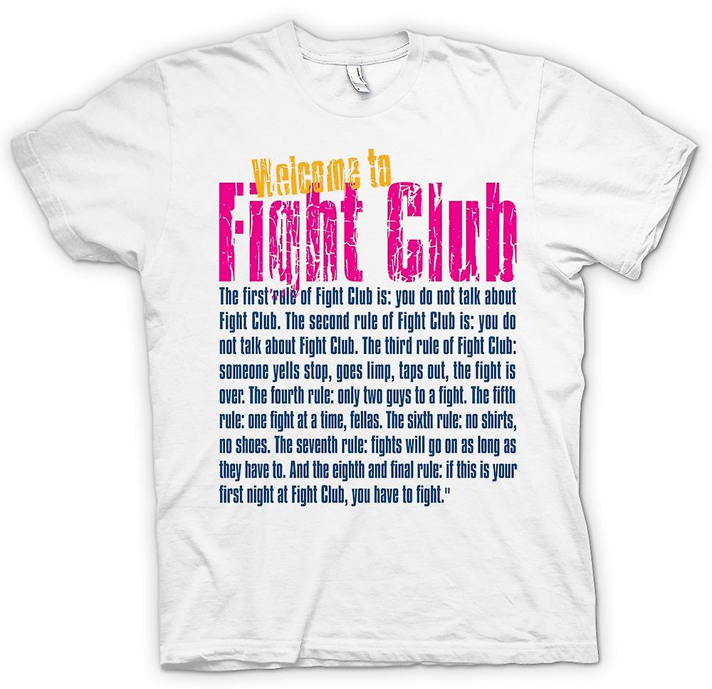 Womens T-shirt - Welcome to Fight Club - drôle Devis