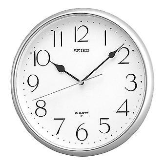 Seiko Quartz Wall Clock with Arabic Numerals Silver (Model No. QXA001S)