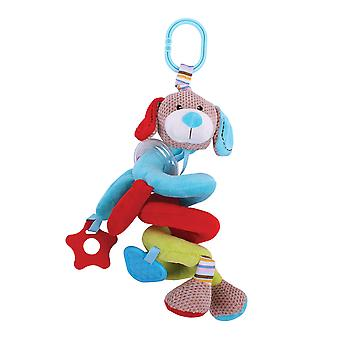 Bigjigs Toys Soft Plush Bruno Spiral Cot Rattle Sensory Newborn Baby Gift