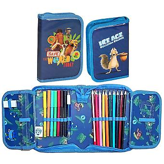 Ice Age pencil case with assortment