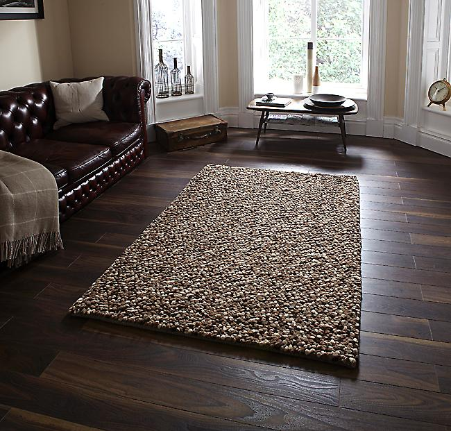 Pebbles Beige  Mix of light and dark creams and beiges Rectangle Rugs Plain/Nearly Plain Rugs