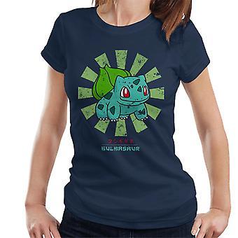 T-shirt donna giapponese Pokemon Bulbasaur retrò
