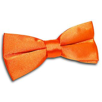 Burnt Orange Plain Satin Pre-Tied Bow Tie