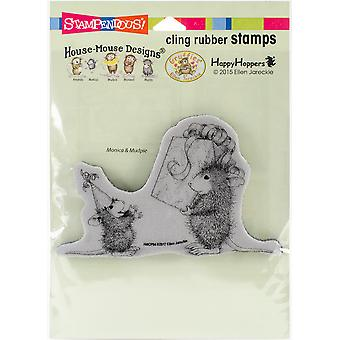 Stampendous House Mouse Cling Stamp -Birthday Gift