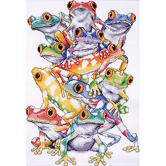 Frog Pile Counted Cross Stitch Kit-11
