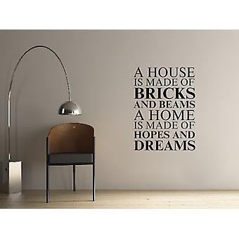 A house is made of Wall Art Sticker - Black