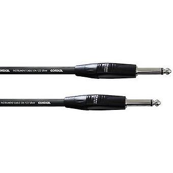 Cordial CII 6 PP Instruments Cable [1x Jack plug 6.35 mm - 1x Jack plug 6.35 mm] 6 m Black