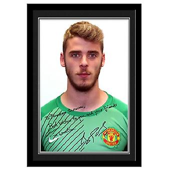Personalised Autographed Photo - David de Gea