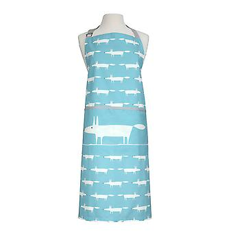 Scion Mr Fox Teal and White Adult Apron