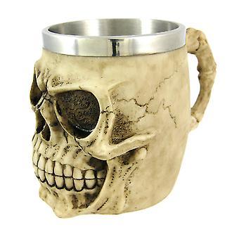 飲む容器ゴス不気味な人間の頭蓋骨の大型ジョッキ スタイン