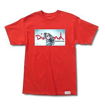Diamond Supply Co Transparent T-shirt Red