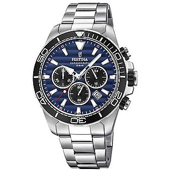Festina Mens Stainless Steel Chronograph Dark Blue Dial F20361/3 Watch