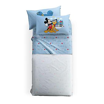 Disney Mickey and Pluto single bed sheet set by Caleffi