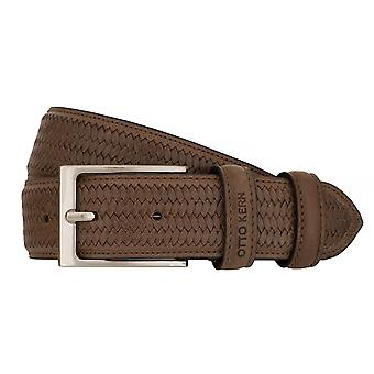 OTTO KERN belts men's belts leather belt Brown 7490