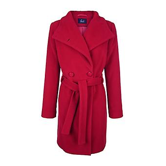 Paola of classic ladies wool coat with cashmere plus size Red