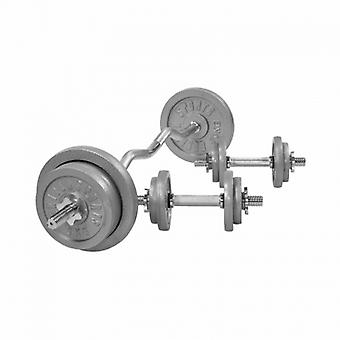 Set d halt Res Bar Curl 70 KG Gusseisen