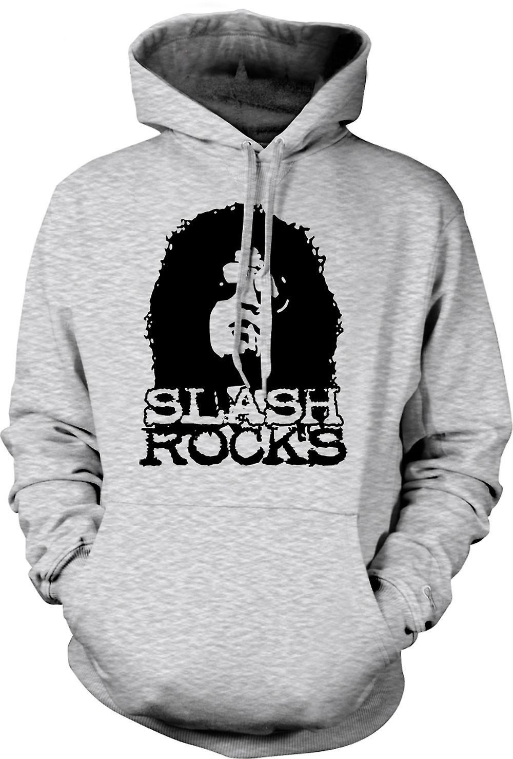 Mens Hoodie - Slash Guitar Rock - Guns n Roses