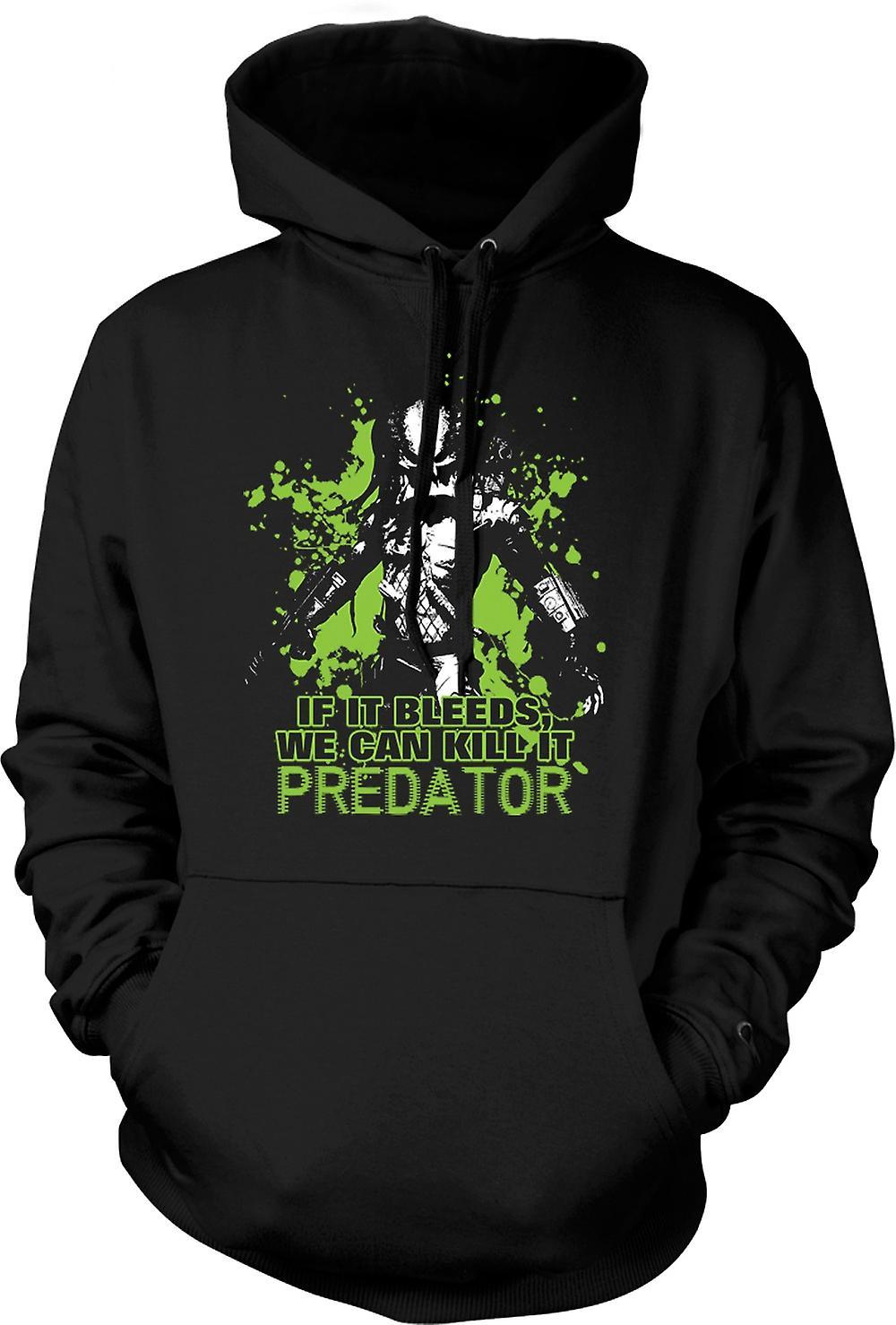 Mens Hoodie - Predator If It Bleeds We Can - Funny