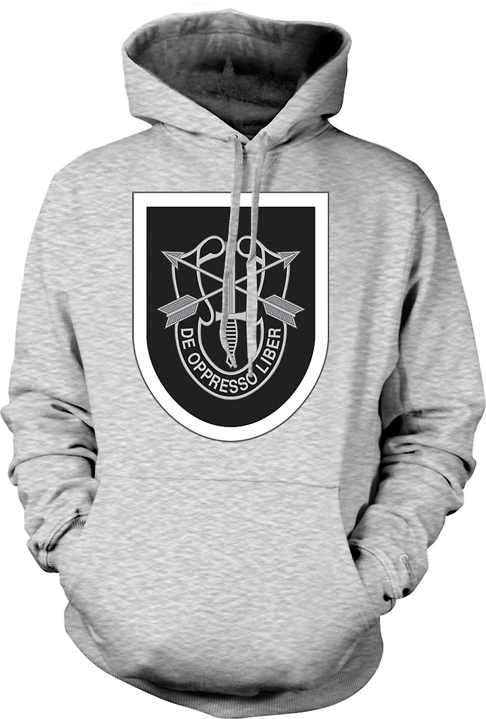 Mens Hoodie - US Special Forces - De Oppresso Liber