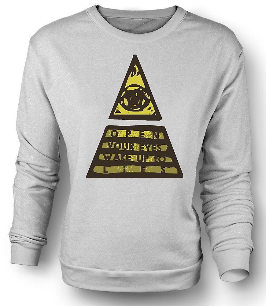 Mens Sweatshirt Illuminati Wake Up To The Lies