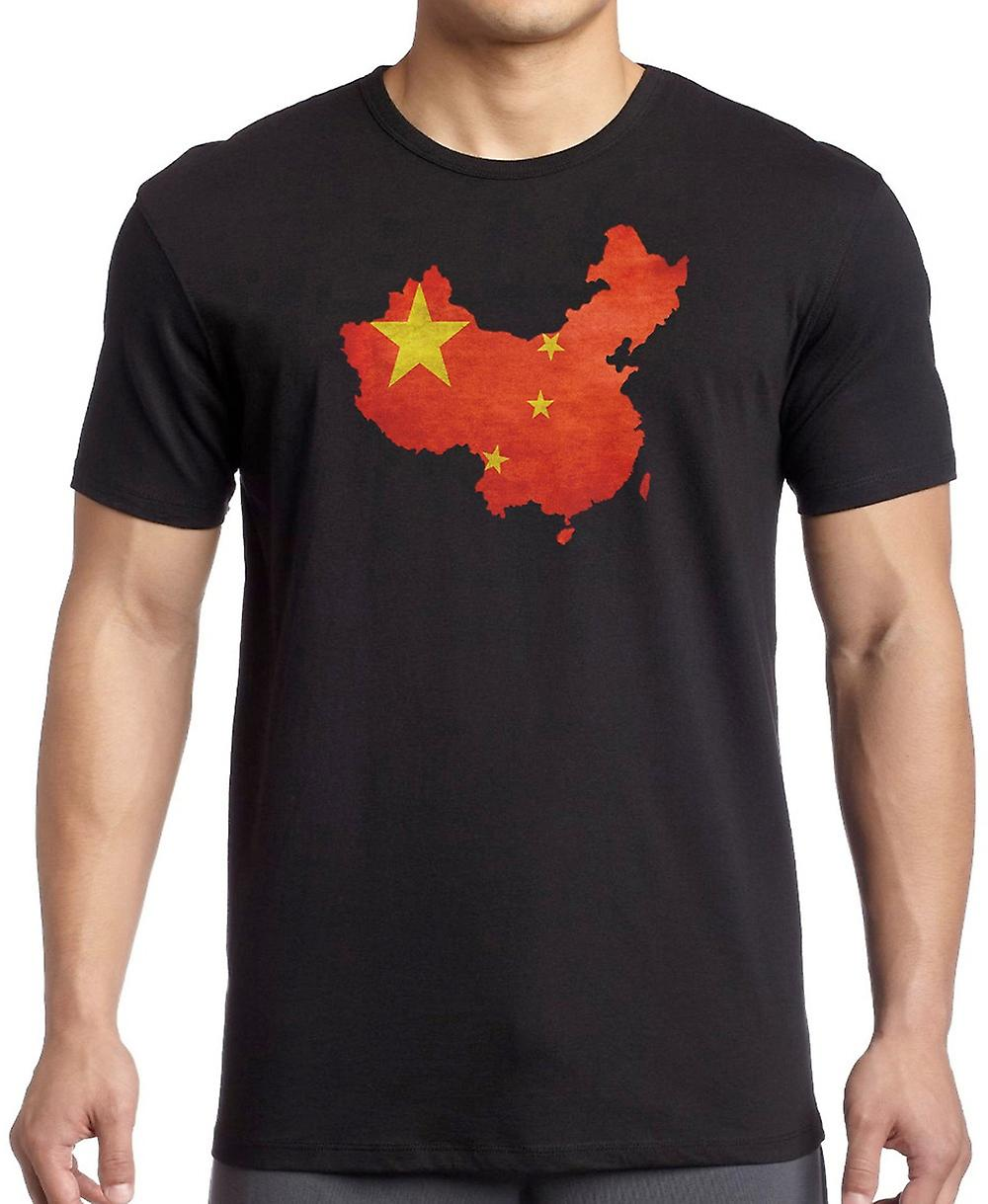 China China bandera mapa - T Shirt