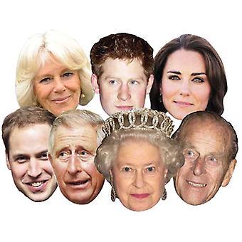 Diamond Jubilee - Royal Family Card Face Mask Set of 7