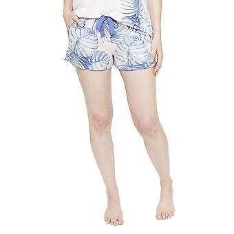 Cyberjammies 4103 Frauen Isla weißen Blatt drucken Pyjama kurz