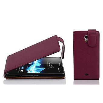 Cadorabo Hülle für Sony Xperia T Case Cover - Handyhülle im Flip Design aus strukturiertem Kunstleder - Case Cover Schutzhülle Etui Tasche Book Klapp Style