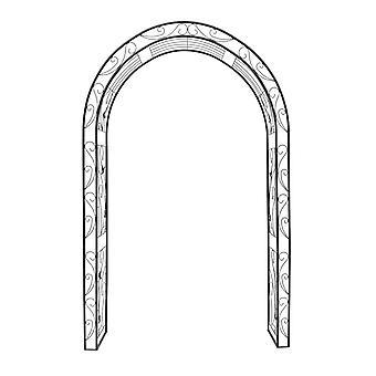 Arche arcade arceau à rosiers plante grimpante jardin noir 226 cm 2213008