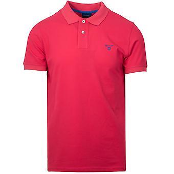 Gant GANT Watermelon Red Contrast Polo Shirt