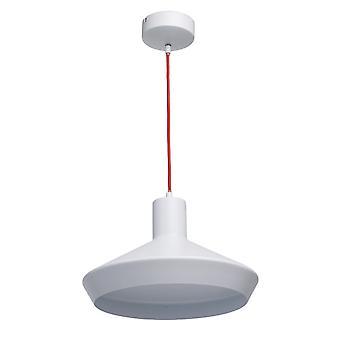 Glasberg - Matt vit och röd stor enda LED pendel 408012101