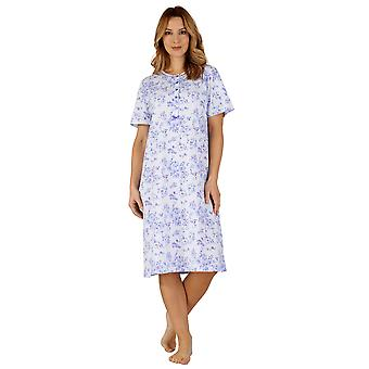 Slenderella ND3102 Women's Cotton Jersey Night Gown Loungewear Nightdress