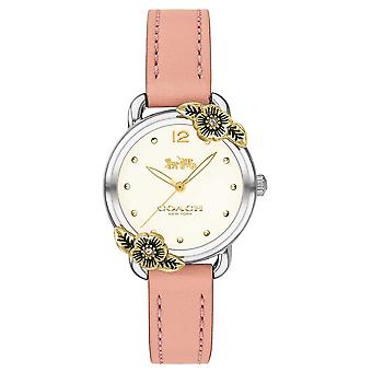Coach | Womens Delancey | Pink Leather And Stainless Steel | 14503239 Watch