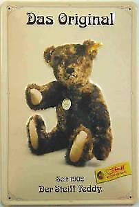 Steiff Teddy Bear Das Original embossed steel sign