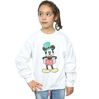 Disney Girls Mickey Mouse Leprechaun Hat Sweatshirt