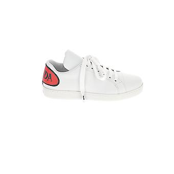 Prada White/red Leather Sneakers