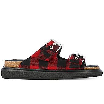 Isabel Marant Red Fabric Sandals