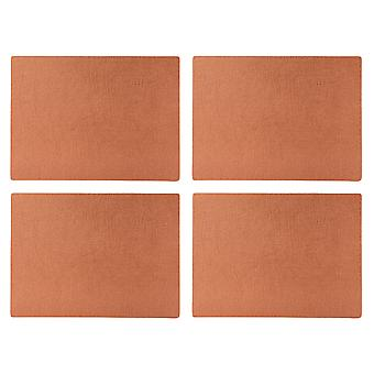 English Tableware Co. Bonded Leather Placemats, Copper