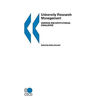University Research Management  Meeting the Institutional Challenge by OECD Publishing
