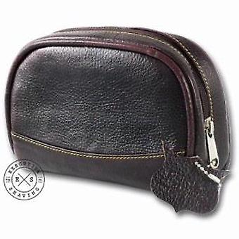 Parker Brown Leather Mini Wash Bag