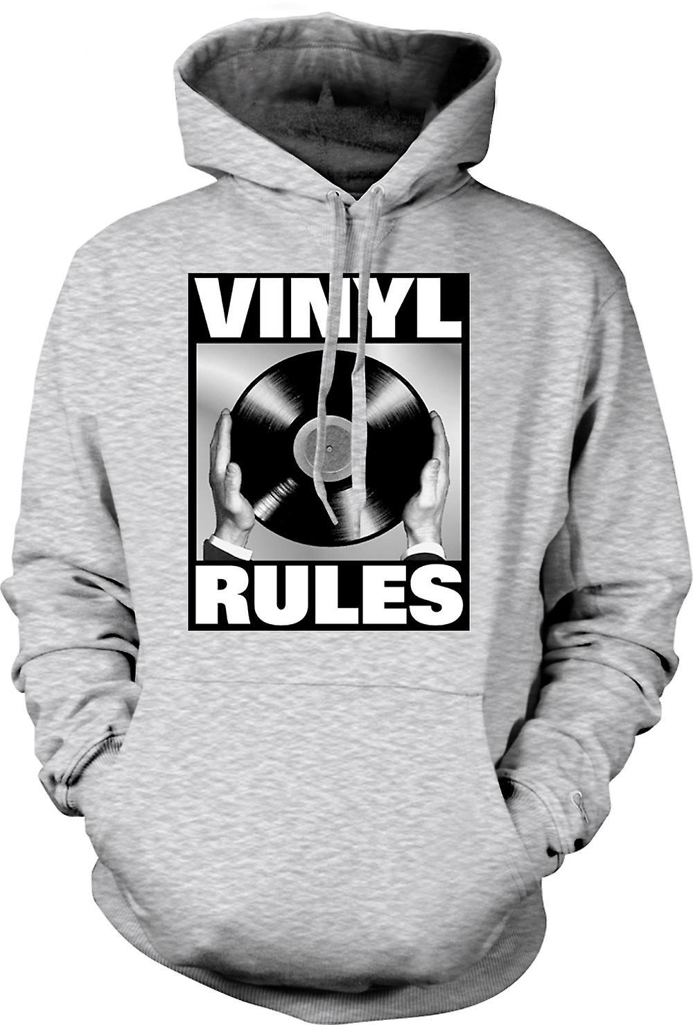 Mens Hoodie - Vinyl Rules - DJ Mixing