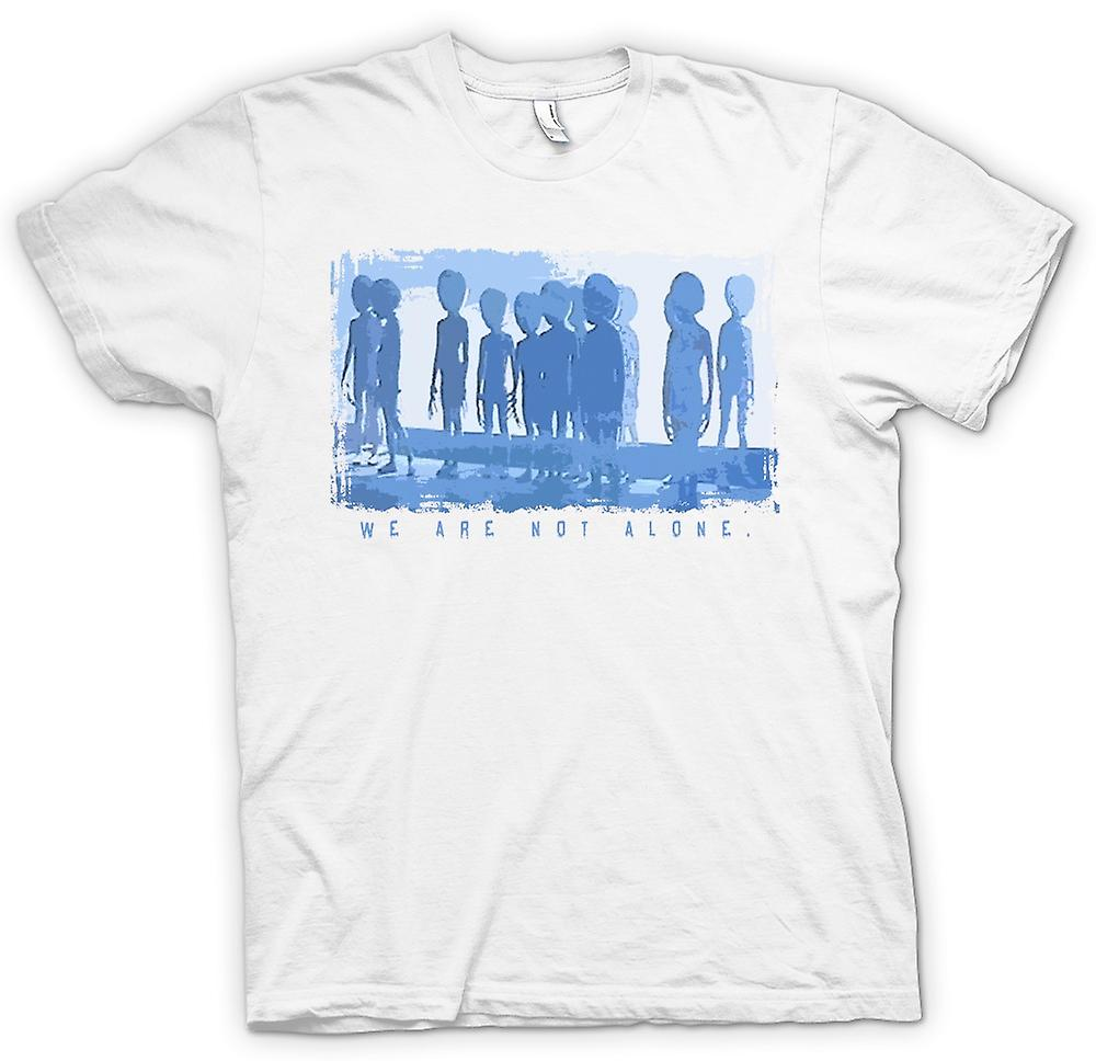 Mens T-shirt - We Are Not Alone - Extra Terrestial Contact